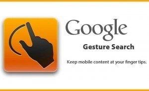 A Atualização do Google Gesture Seacher