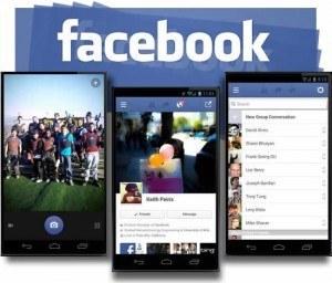 Novidades da app do Facebook